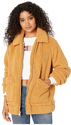 Levi's Sherpa Mid Length Zip Front Two-Pocket