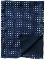 Charles Tyrwhitt Navy Spot Printed Silk Scarf