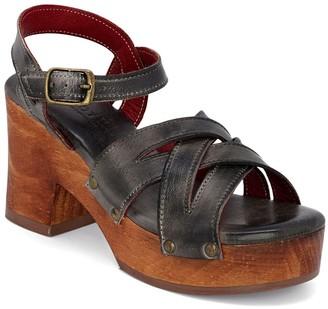 Bed Stu Leather Adjustable Clog Sandals - Paulina
