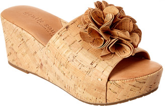 Gentle Souls Forella Cork Wedge Sandal