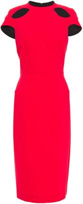 Roland Mouret Talland Cutout Wool-crepe Dress