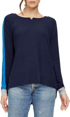 Michael Stars Kim Madison Sleeve Stripe Long Sleeve Tee