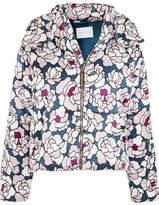 Olivia von Halle - Stella Printed Silk-satin Jacket - Blue
