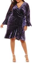 SPENCE Spense Long Sleeve Wrap Dress - Plus