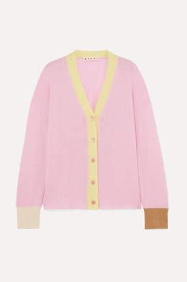 Marni Striped Cashmere Cardigan - Pink