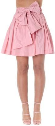 MSGM Pink Cotton Trapeze Skirt