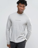Criminal Damage Long Sleeve T-shirt With Turtle Neck