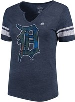 Majestic Women's Navy/White Detroit Tigers Slugging Percentage V-Notch T-Shirt