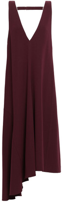 Tibi Asymmetric Open-back Stretch-crepe Midi Dress