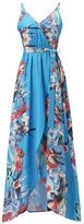 jeansian Women's Sexy Sleeveless Bohemian Sun Beach Maxi Dress WHS203 S