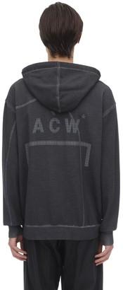 A-Cold-Wall* Zip-Up Cotton Jersey Sweatshirt Hoodie