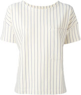 Bellerose pinstripe pocket blouse - women - Cotton/Nylon/Spandex/Elastane - 0