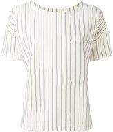 Bellerose pinstripe pocket blouse - women - Cotton/Nylon/Spandex/Elastane - 1
