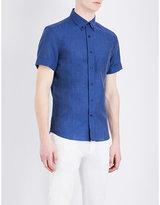 Brunello Cucinelli Short-sleeved Linen And Cotton-blend Shirt