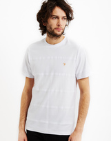 Farah Denny Short Sleeve Crew Neck T-Shirt White