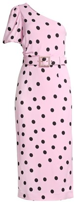 Rebecca Vallance Mattel One-Sleeve Midi Dress