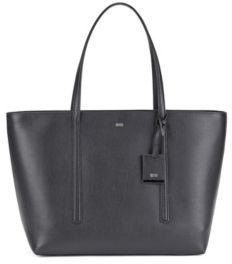 BOSS Shopper bag in grained Italian leather with hangtag