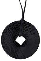 Hermes Patent Alligator Tsuba Pendant