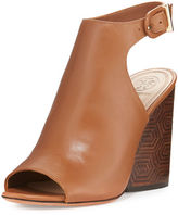 Tory Burch Grove Leather 100mm Block-Heel Bootie