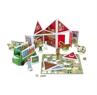 Melissa & Doug 102-Piece MAGNETIVITY Magnetic Building Play Set On the Farm with Tractor Vehicle (16 Panels, 77 Accessory Magnets)