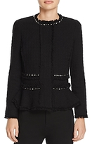 Rebecca Taylor Embellished Tweed Jacket