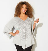 Avenue Geo Foil Asymmetrical Top
