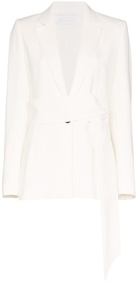 Roland Mouret Belair single-breasted tie blazer