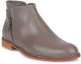 Italeau Cosima Leather Dual Zip Ankle Booties