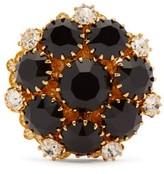 Dolce & Gabbana Crystal-flower Ring - Womens - Black Multi