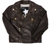Molo Kids Grained Leather Jacket