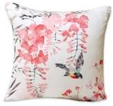 Sanderson Magnolia Blossom Riverside Throw Pillow in Coral