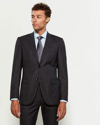Theory Charcoal Wool Suit Jacket