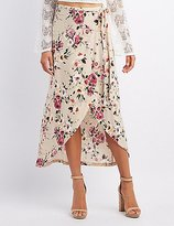 Charlotte Russe Floral Wrap Maxi Skirt