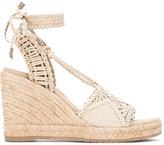Paloma Barceló adjustable strap sandals - women - Raffia/Leather/rubber - 36