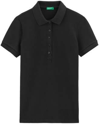 Benetton Cotton Short-Sleeved Polo Shirt