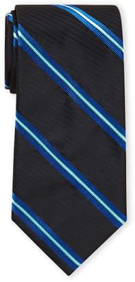 Ike Behar Ike By Navy & Black Stripe Tie