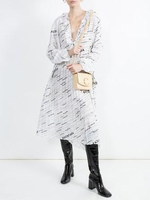 Balenciaga All-over Contrasting Logo Dress
