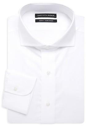Saks Fifth Avenue Slim-Fit Tone-On-Tone Dot Dress Shirt