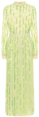 Dries Van Noten Sequined chiffon maxi dress