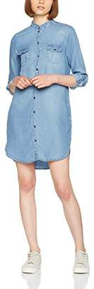 Vero Moda NOS Women's Vmsilla Ls Short Dress Lt Bl Noos Ga Light Blue Denim, 10 (Size: Small)