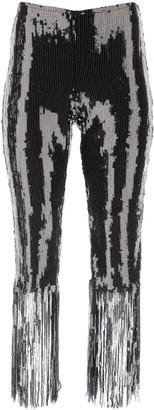 L'Autre Chose Sequinned Fringe Hem Pants