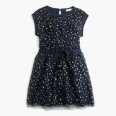 J.Crew Girls' tulle-overlay dress in celestial print