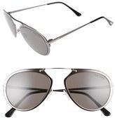 Tom Ford Women's Dashel 55Mm Sunglasses - Gunmetal/ Palladium/ Black