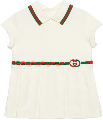 Gucci Baby cotton dress with InterlockingG