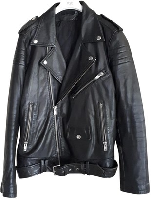 BLK DNM Black Leather Leather Jacket for Women