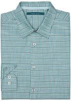 Perry Ellis Space Dyed Stripe Plaid Shirt
