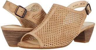 Paul Green Lois Sandal (Black Leather) Women's Sandals