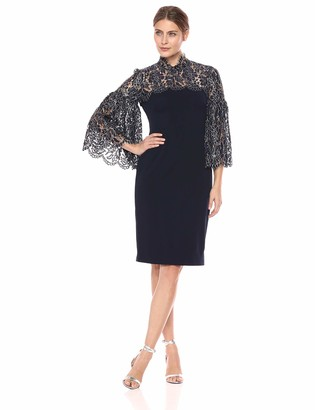 Eliza J Women's Long Sleeve Lace Combo Dress