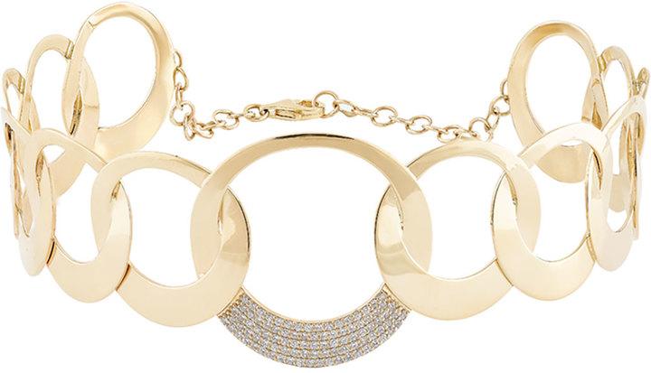 Lana Circle Bond Choker Necklace with Diamonds