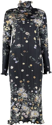 Givenchy Floral Print Pleated Dress